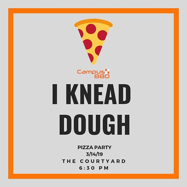 Our pizza party is tonight at 6:30! Which college kid would pass up free food? Hopefully not you. Come get some slices on the courtyard at 6:30 pm and save that money. #LifeAt880
