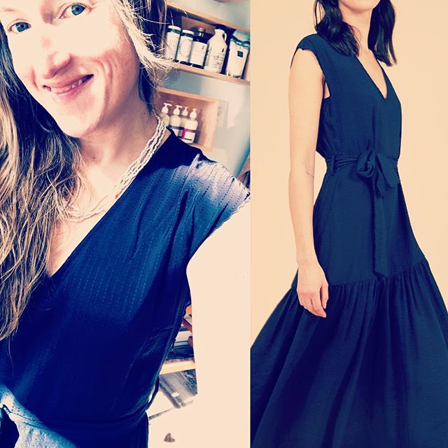 Feeling the warm spring sunshine & the gorgeous blue armantine dress by FRNCH ! our newest brand in the store