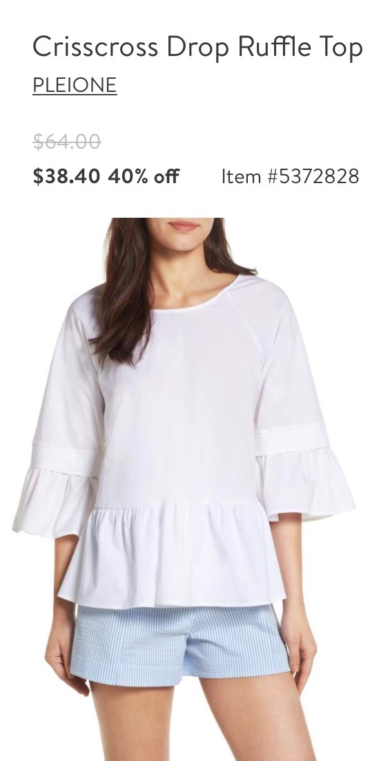 Crisscross Drop Ruffle Top