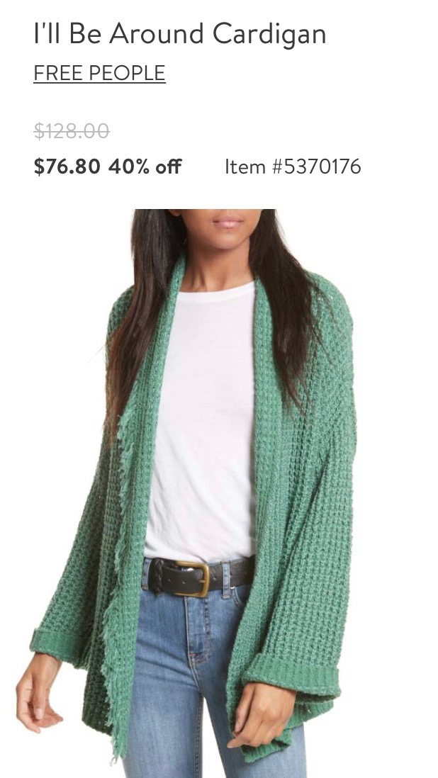 Free People Cardigan in Green
