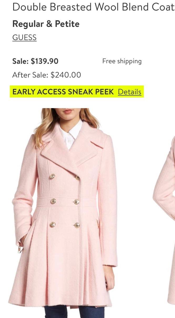 *Pink Guess Coat