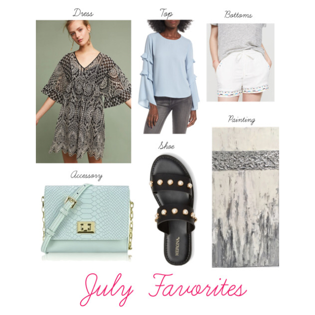 Favorite Dress   //  Favorite Top  //  Favorite Bottoms  //  Favorite Shoe  //  Favorite Accessory  //  Favorite Painting