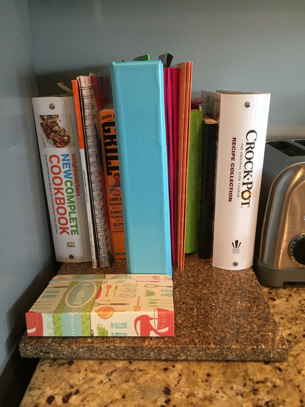 Folders and coupon organizers to keep counter clutter free