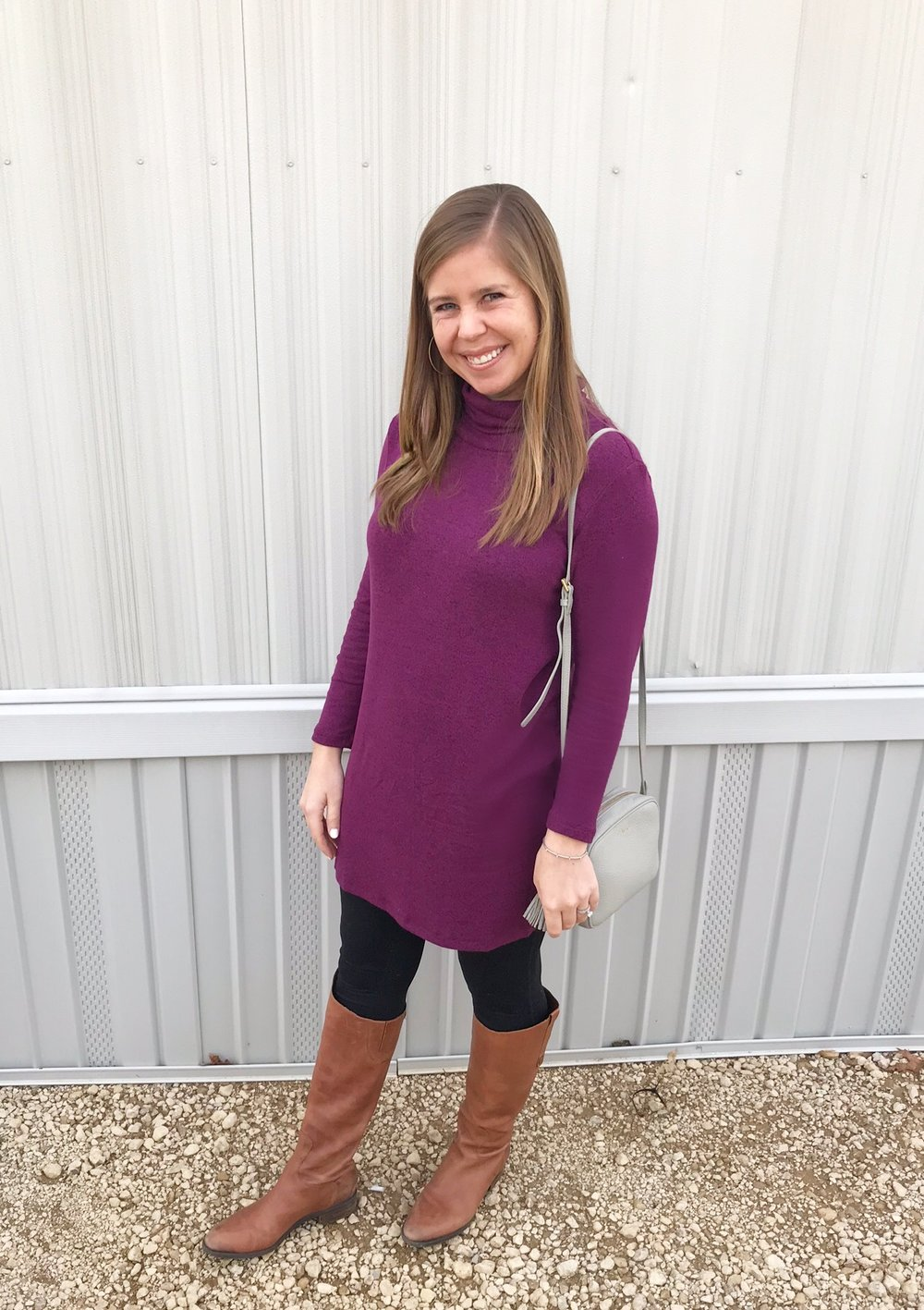 My favorite plush turtleneck tunic    (that I have in wine, gray, and olive!)