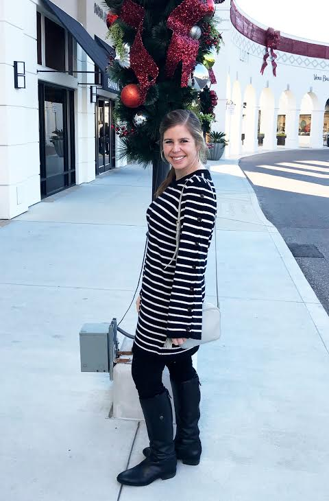 Striped Button Sleeve Sweater Dress   - I got this last weekend and think it is the cutest sweater dress! The buttons on the sleeves are my favorite part!