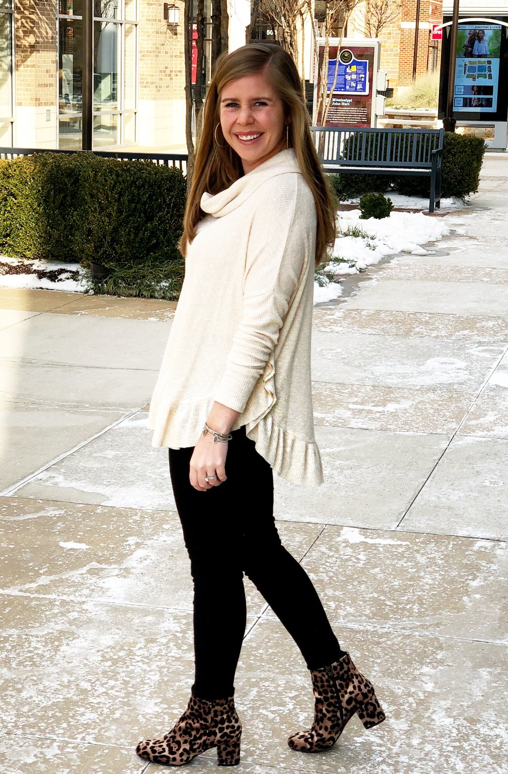 Ruffled Pullover  (on sale!) //  Shoes