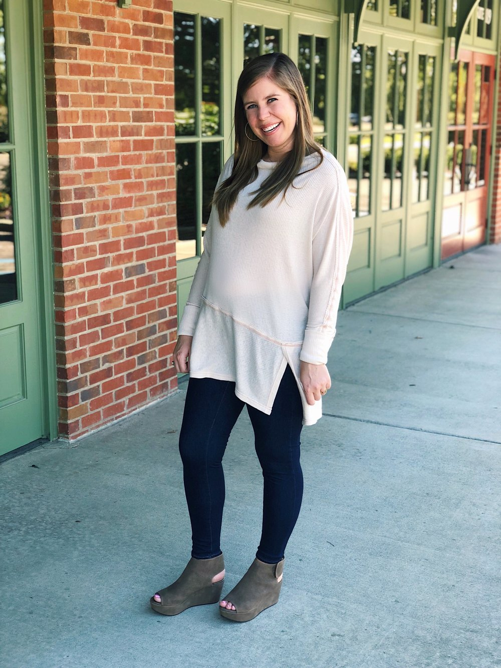 Outfit Details-     Shoes     |     Top     |     Maternity Jeans