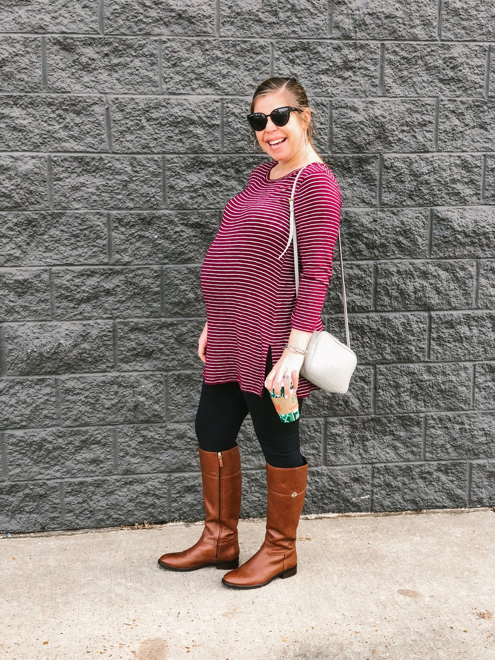 Outfit Details-     tunic     |     leggings     |     boots     |     purse