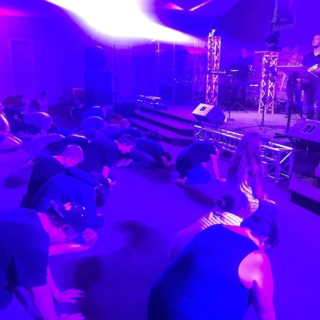 Bowing before the King of Kings! #collide2018 #collideyouthconference