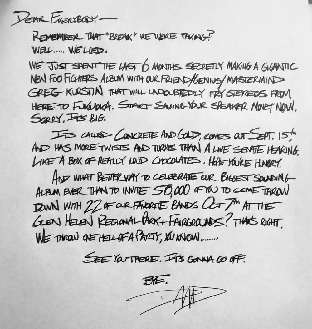Foo Fighters via Twitter