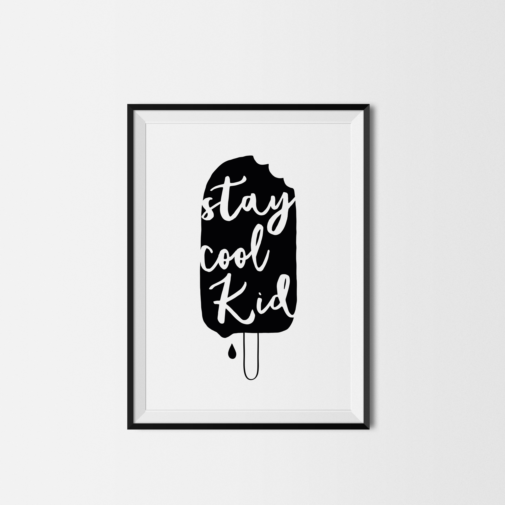 stay cool kid print