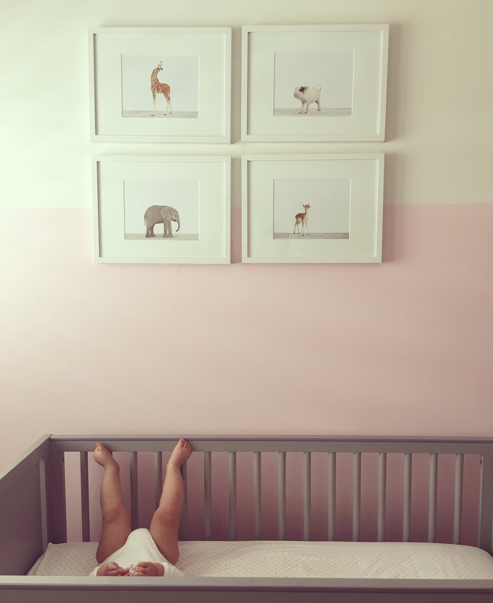 Alexa Gigi in her nursery.