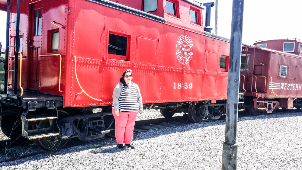 My wife, Victoria, with the Western Maryland WM 1859 Caboose. Another nicely restored unit at the Hagerstown Museum in Maryland!