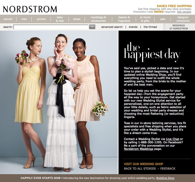 Additionally Nordstrom Was Losing Market Share To Vertical Retailers Like J Crew Who Were Attracting Young Brides With Boutique Style Experiences And