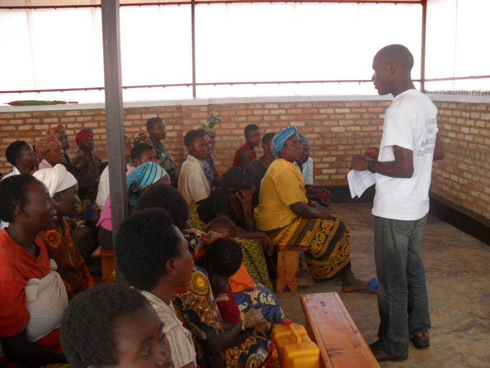 One of our team members delivering a teaching session on maternal health in one of the local health centres located in the targe.jpg
