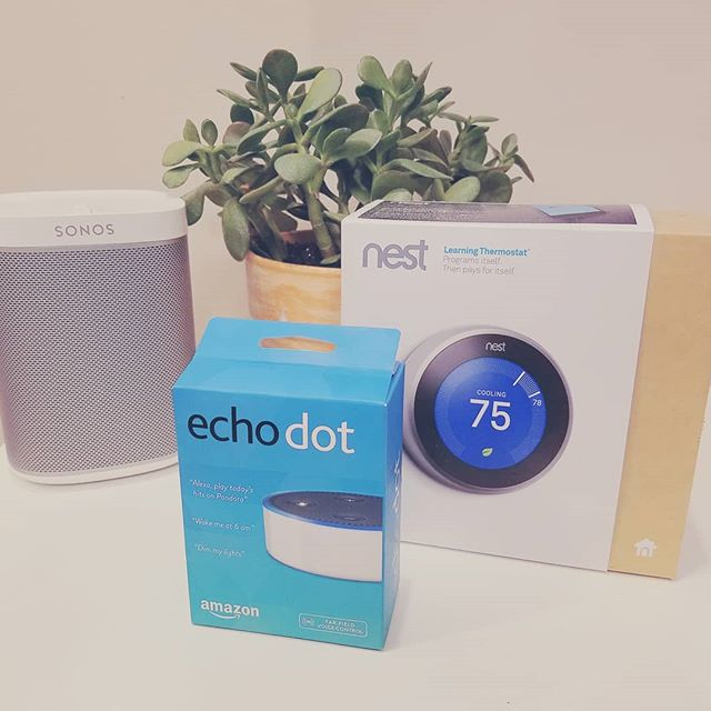 Nest & Sonos now work with Alexa #sonos #nest #onehoursmarthome. Home automation tip: Start with Echo and build your system with voice in mind. Skip the user interfaces and control your home with voice it is the best way to control your smart home