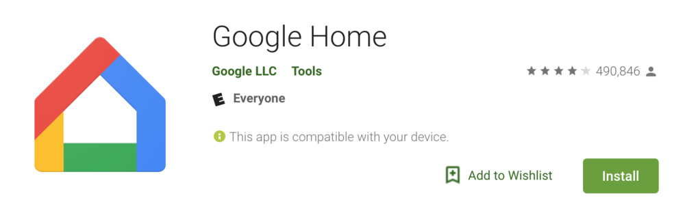 Google Home App: Required to control your nest smart lock with a google smart speaker like  google home mini.