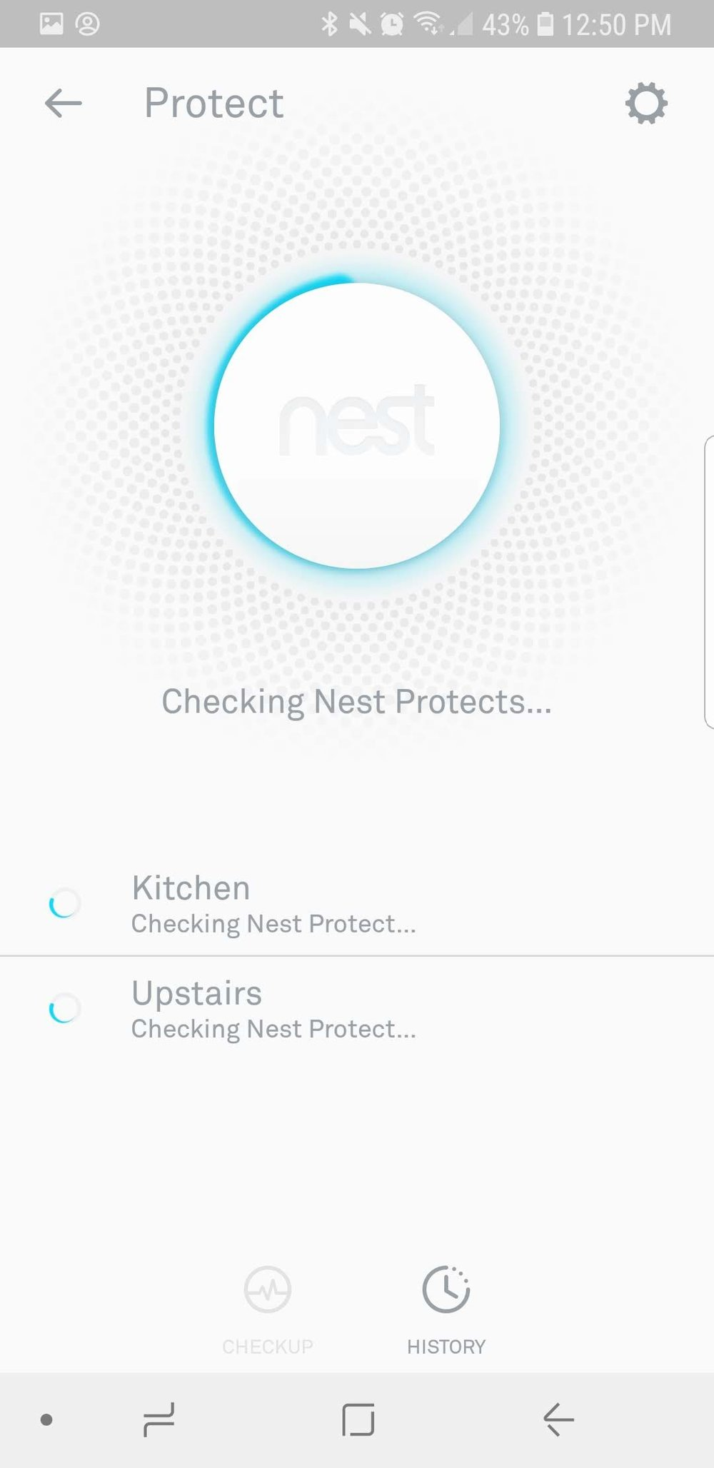 2. Run the check up on the nest smoke detector batteries