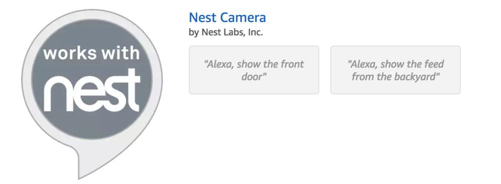 Nest Camera Skill Amazon.com