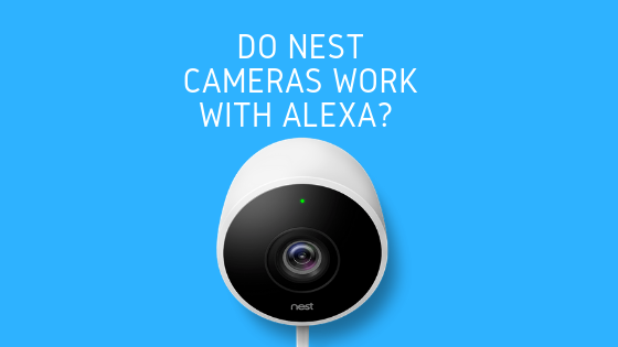 Black Nest Cam Indoor Security Camera w// Amazon Alexa