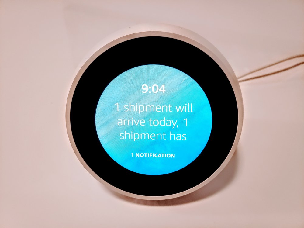 Echo Show & Echo Spot Shipment Notification