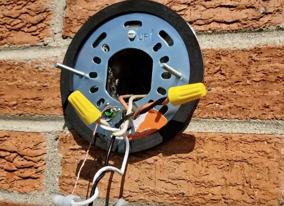 Ring Floodlight Mounting Plate Installed