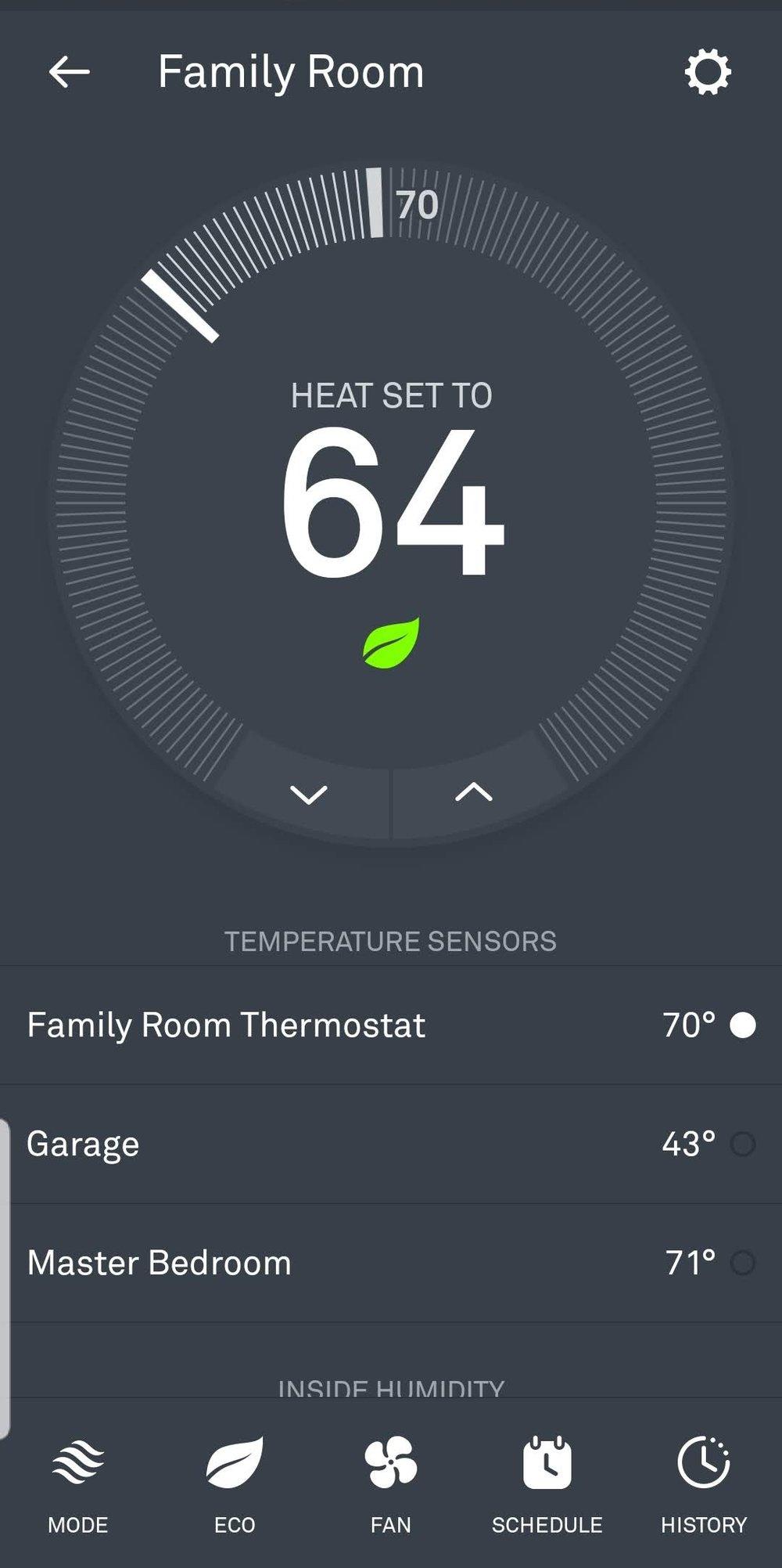 Nest Thermostat Works With Alexa: Nest App