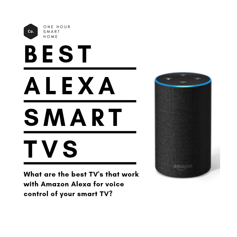 Sony & LG lead the way in smart TV's that work with Amazon Alexa.