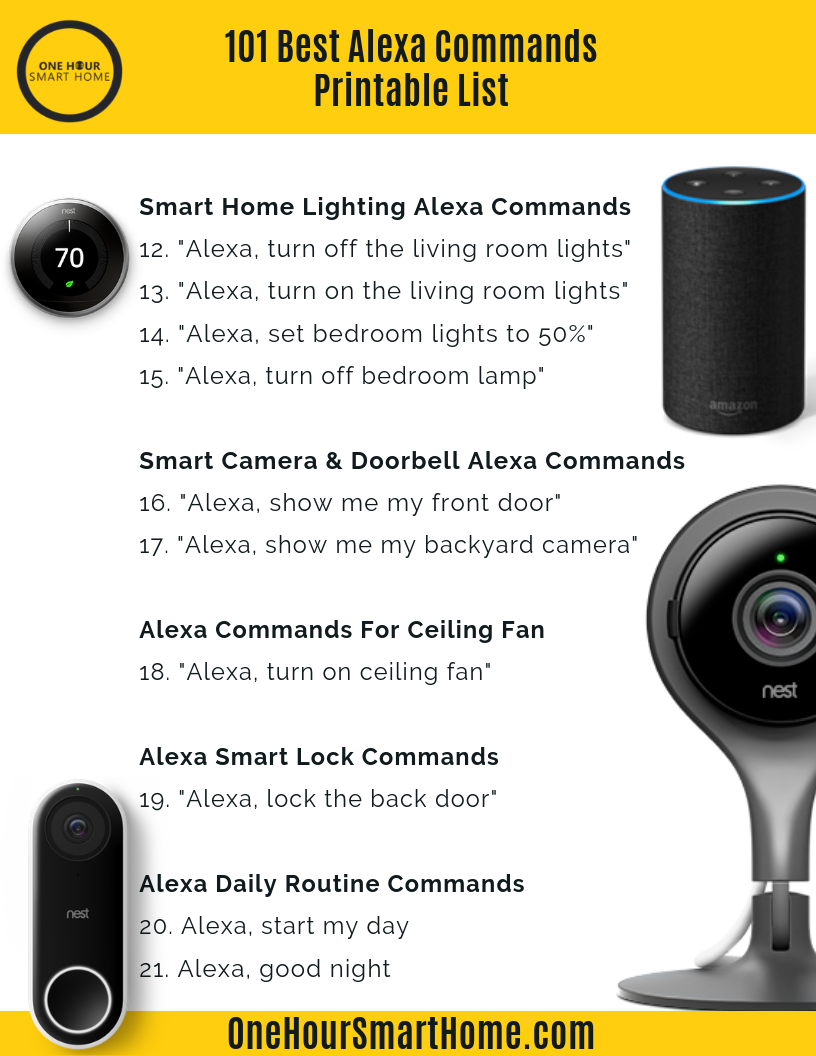 photo about Printable List of Alexa Commands called Alexa Transform Upon Dwelling Place Lighting Baci Dwelling Space
