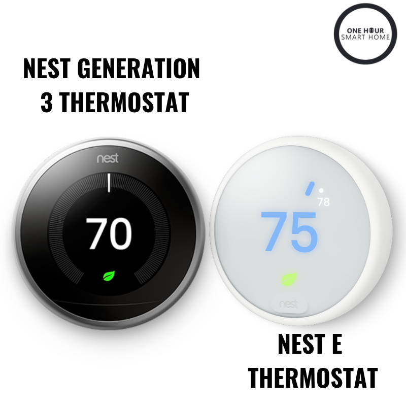 The  Nest Thermostat  &  Nest E Thermosta t both work with Google Home.