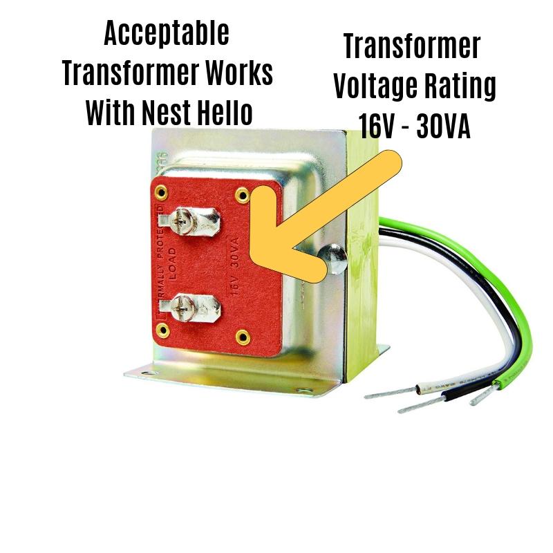 Nest Hello Transformer Installation
