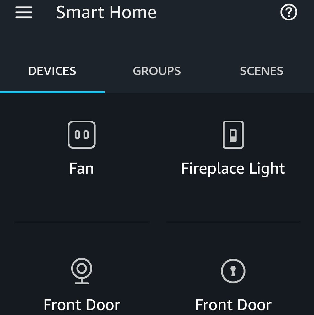 """The   Ring Pro Doorbell Shows up As the """"front Door"""" in the Alexa. The Other """"Front Door"""" item in the screen is a Smart Lock Compatible With Alexa."""