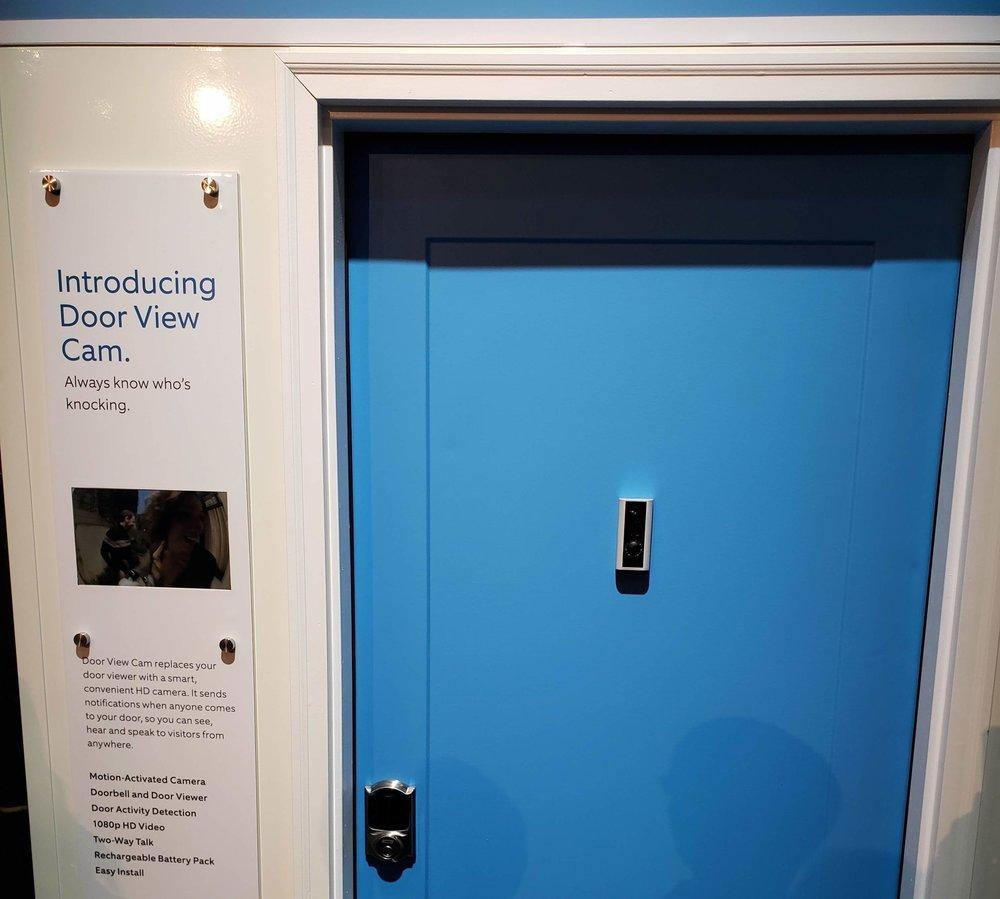 Ring Door View Cam Mounted On Door