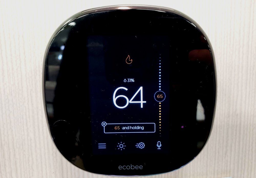 Nest vs Ecobee: Ecobee Thermostat Touch Screen Display