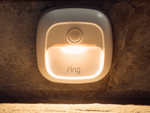 - Ring Steplight is available in both white and black finishes
