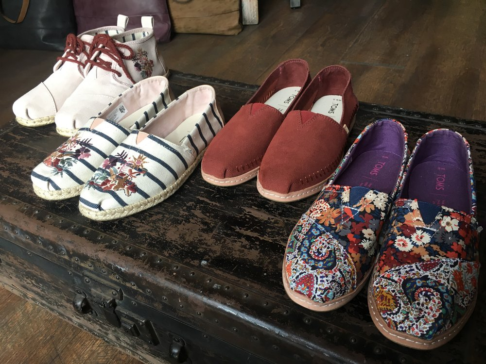 TOMS - One of our favorite brands; simplicity re-imagined with purpose.