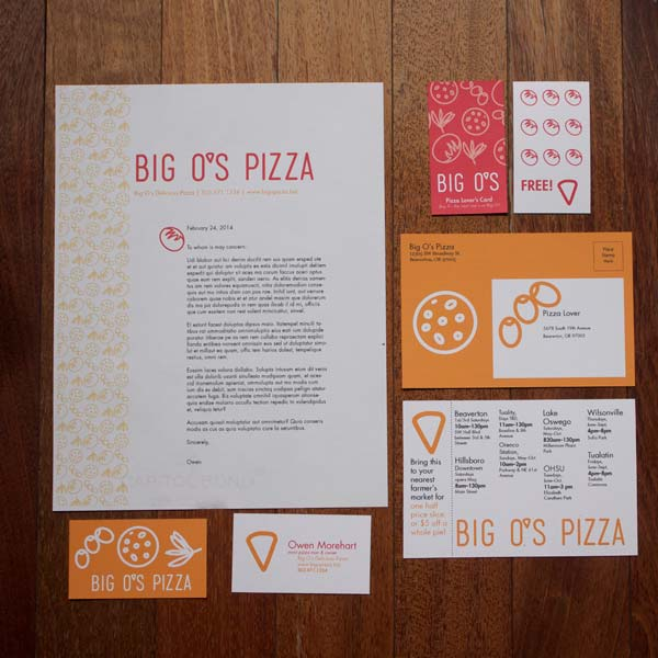 Collateral for Big O's Pizza