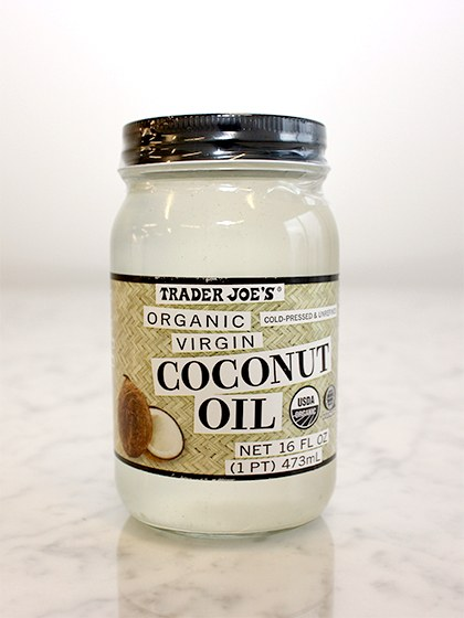 This stuff.  Amazing.  I use it to cook, moisturize my hands, my face and condition my hair. This time of year as the weather gets warmer the oil gets more like liquid and its easier to use.  Plus, it smells like summer.