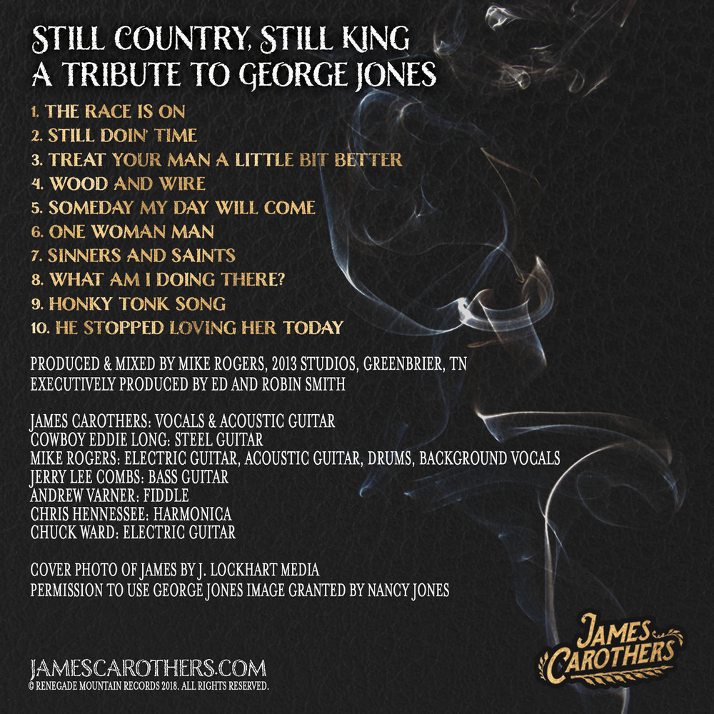Still Country, Still King: A Tribute to George Jones  Back Cover
