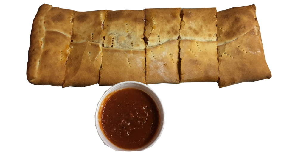 Regular Stromboli \with side cup of Sauce