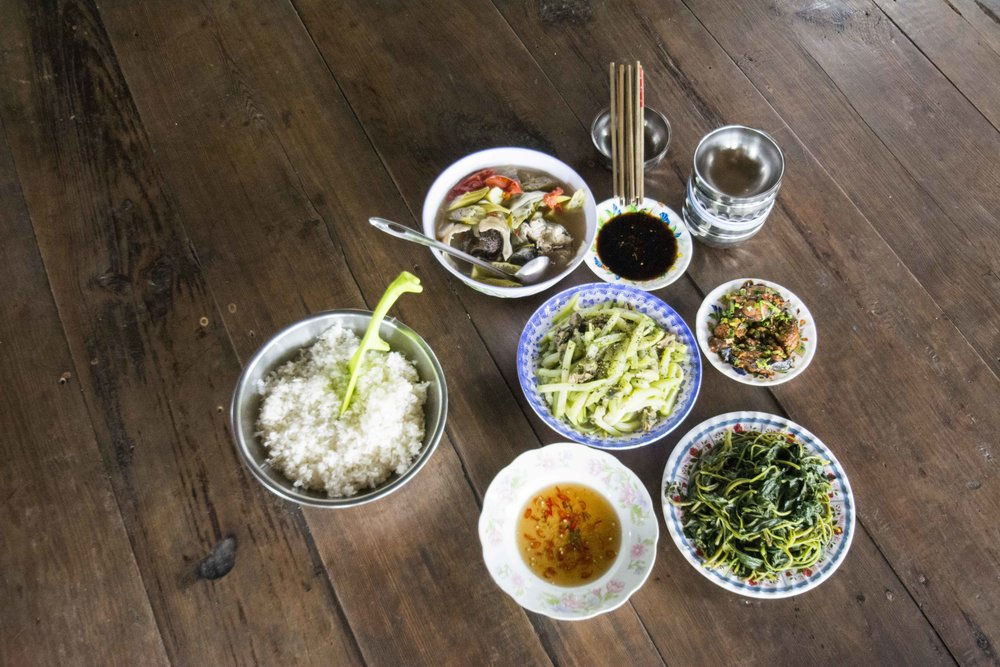 Rice is a staple food source that accompanies most meals in Vietnam.
