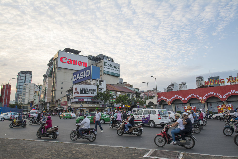 Rural to urban migration is causing Ho Chi Minh City's population (currently around 8.5 million) to increase rapidly, and the streets are constantly crowded with motorbikes and taxis.
