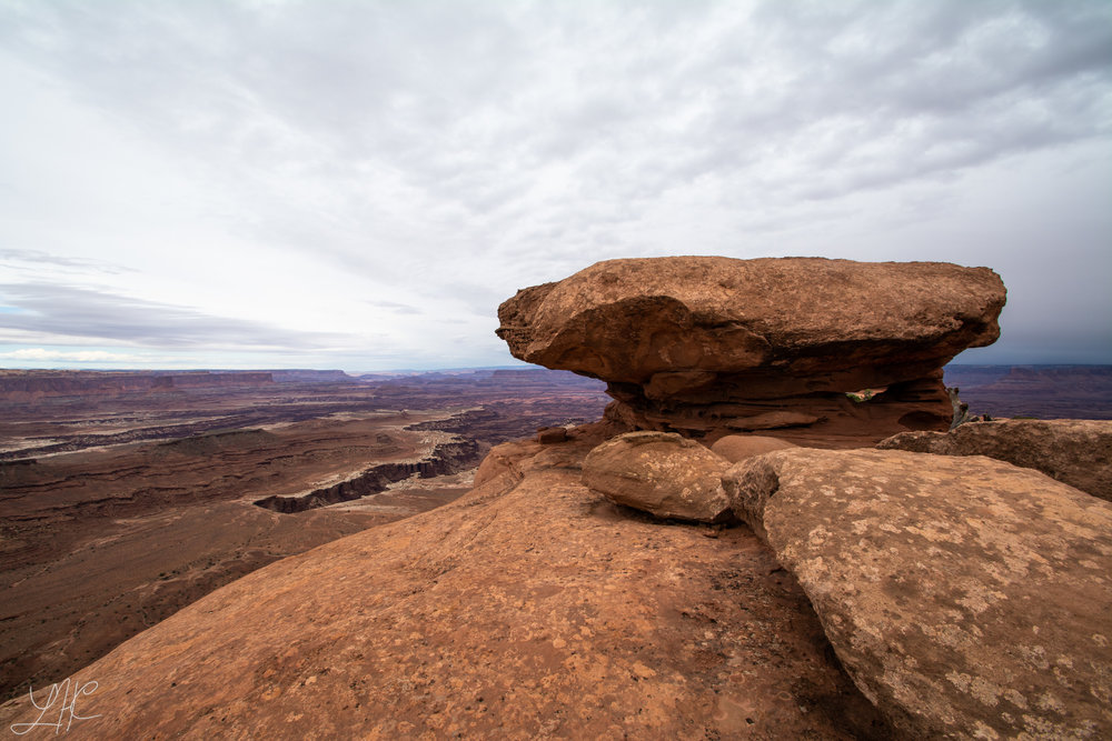 An overlook point in Island of the Sky District, Canyonlands National Park