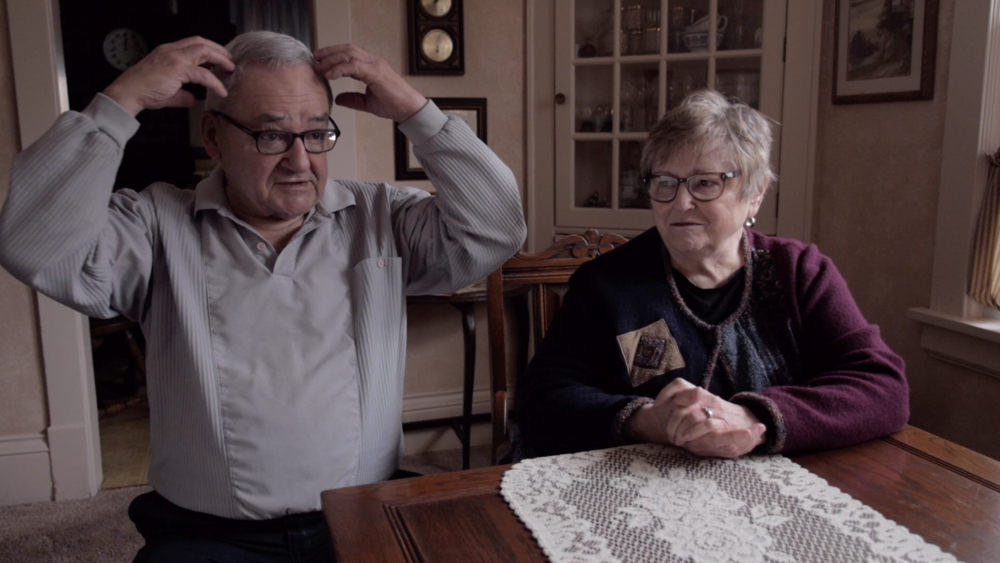 Owen and Nancy Young during their combined interview at their home in So. St. Paul, MN.