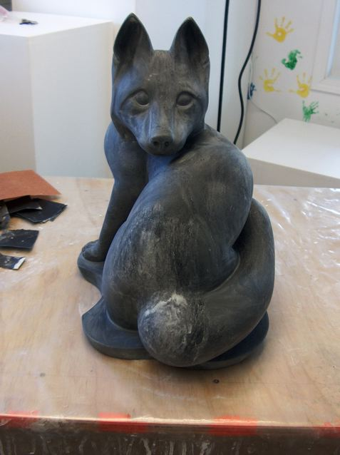 Third sanding done with 350 grit
