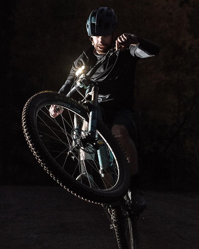 Happy #wheeliewednesday from Mystic Devices!  We hope you have as much fun on your bike as we do. • • • #bikelights #mtb #nightriding #startuplife #mysticdevices #exploretheunknown #wheelie #wheelies #kickstarter #kickstartercampaign
