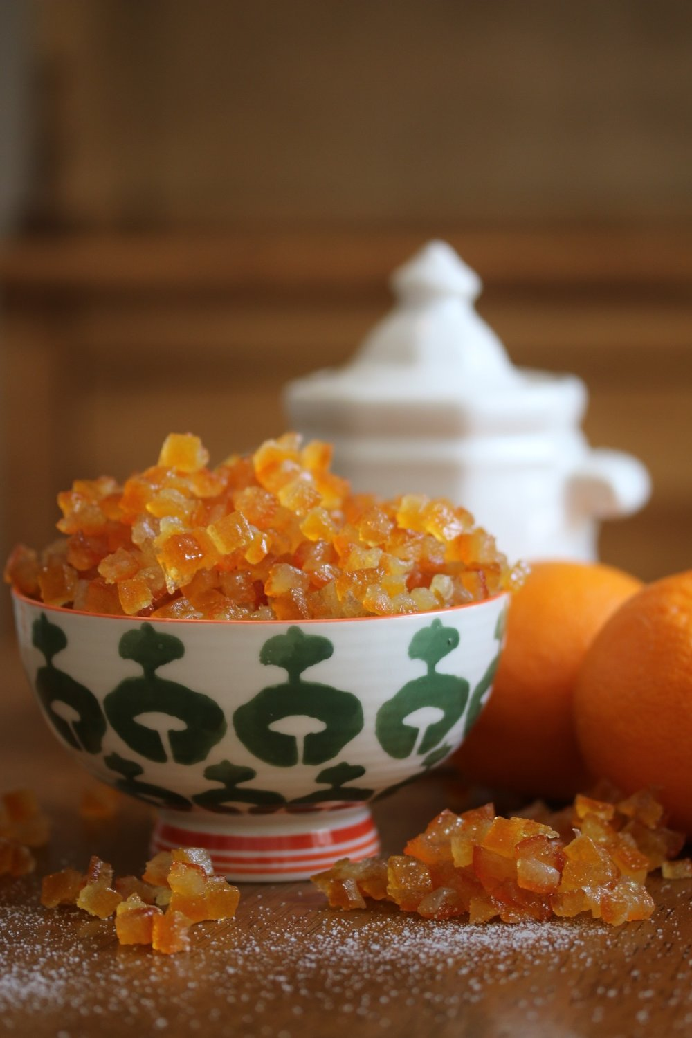 Organic Candied Orange Cubes