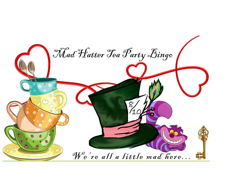 Mad Hatter Tea Party Bingo Davine Whiskey Wine Bar