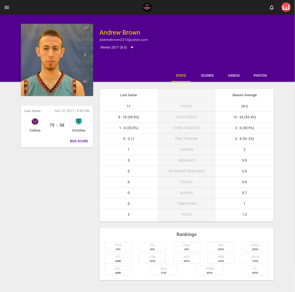 Player Profiles (Web)