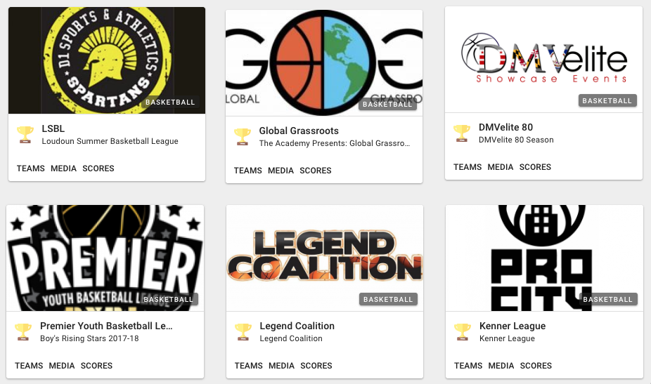 All Your Leagues, Teams, Clubs, & Tournaments